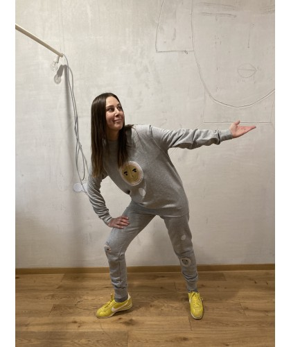 bear house athletic apperel jumper+pants M