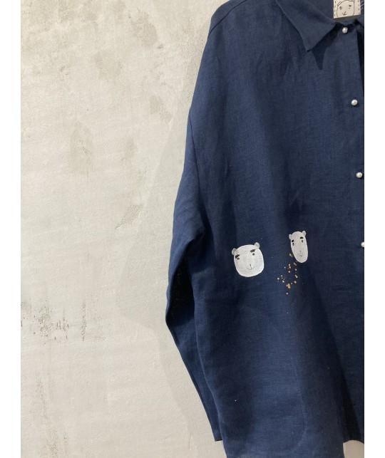 blue house of bears shirt  jacket