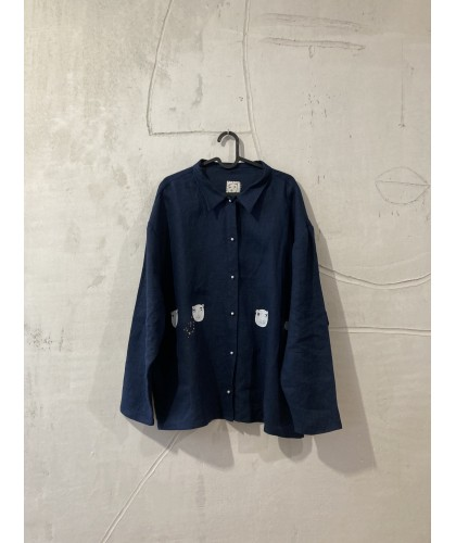 blue house of bears|shirt |jacket