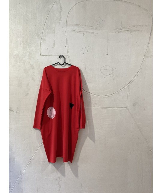 Red house dress M