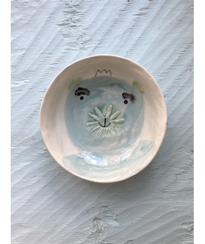 bear with sun mouth bowl   plate