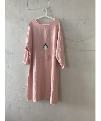pink silence dress oversize M