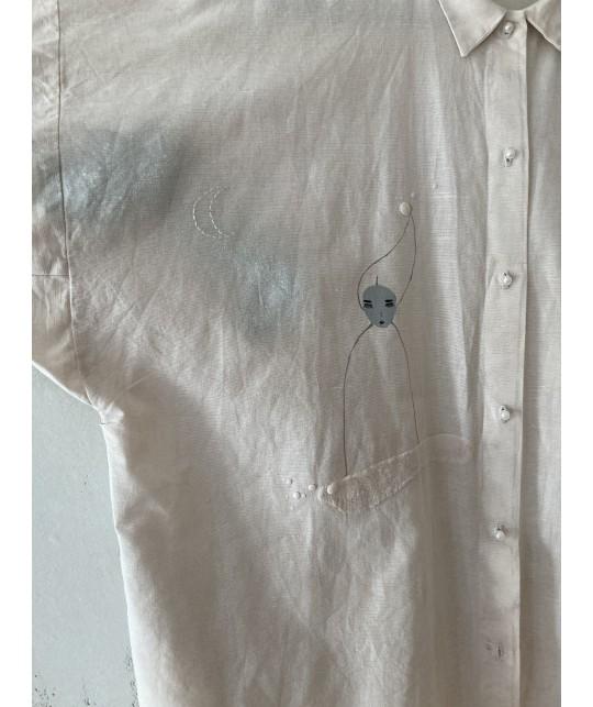girl and planets shirt|dress|jacket