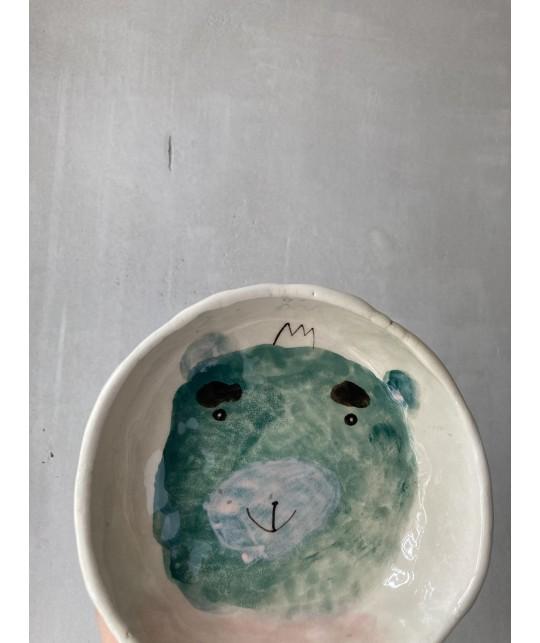 bear portrait bowl | plate