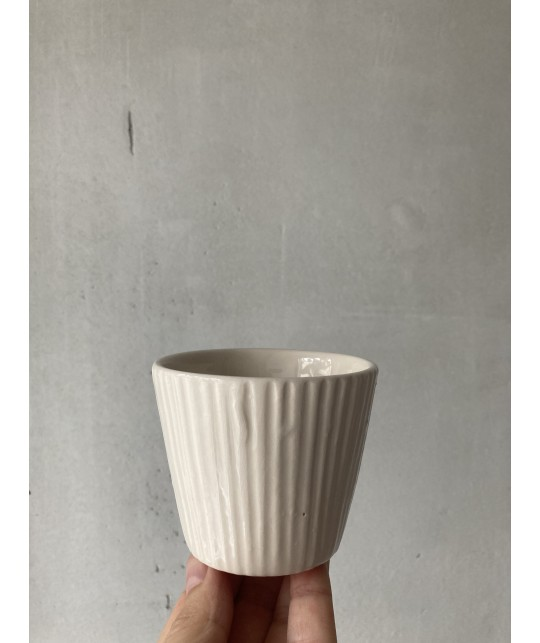 white biscuit cup